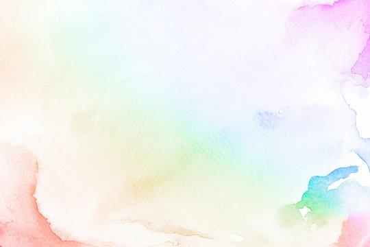 Rainbow gradient watercolor style background illustration illustration