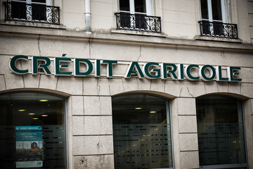 credit agricole signboard