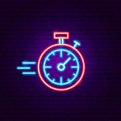 Fast Stopwatch Neon Sign