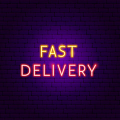 Fast Delivery Neon Text