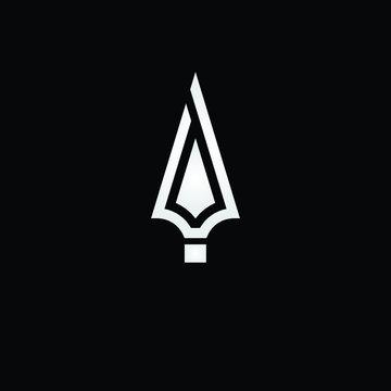 spear logo design icon vector