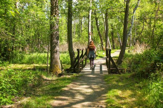 Hiking in biosphere reserve Spree forest (Spreewald), Luebbenau - Germany