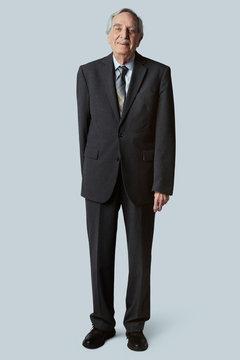 Happy senior businessman in a suit mockup