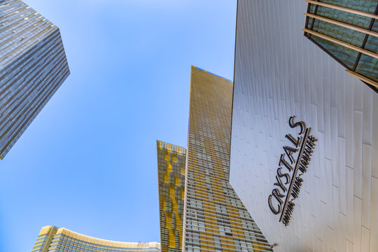 The crystals shopping center in Las Vegas, Nevada at the Strip at daytime
