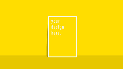 Brochure template flyer Simple yellow color background for business design