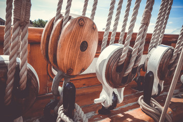 Old ship deck closeup detail