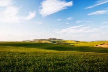 壁紙(ウォールミューラル) - Tranquil rural landscape in sunbeams. Location place of South Moravia, Czech Republic, Europe.