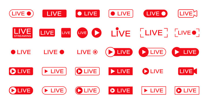 live icon online stream video play vector illustration
