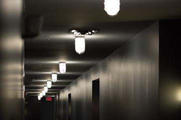 Illuminated Corridor In Building - fototapety na wymiar