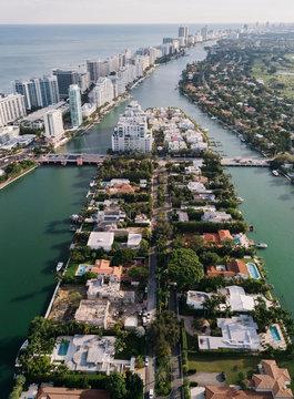 Allison Island in Miami Beach, USA