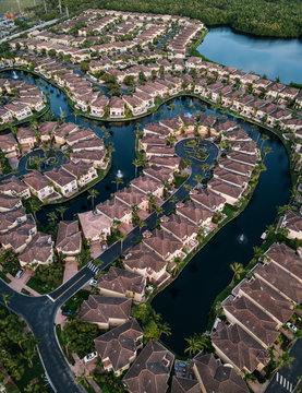 Aventura Lakes district in Miami Beach, USA