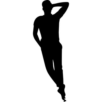 Man Lying Down Silhouette Vector
