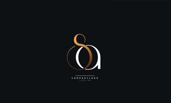 SA Letter Logo Alphabet Design Icon Vector Symbol