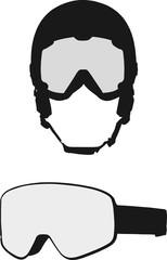 Helmet with goggle