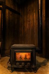 薪ストーブのほのお Flame of warm wood stove