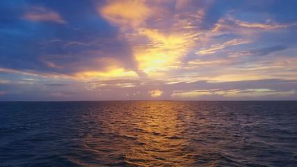 Scenic View Of Sea Against Dramatic Sky - fototapety na wymiar