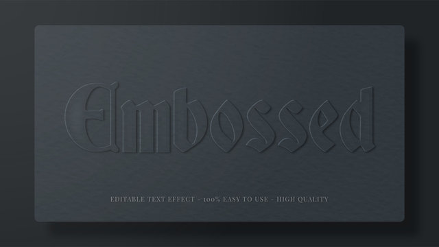 embossed paper editable text effect