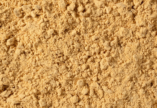 Japanese soybean flour photographed on the entire screen