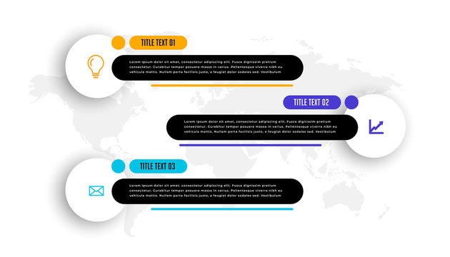 lower third style three business infographic template