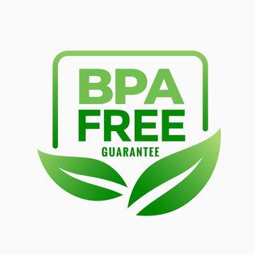 bpa free bisphenol-a and phthalates guarantee label design