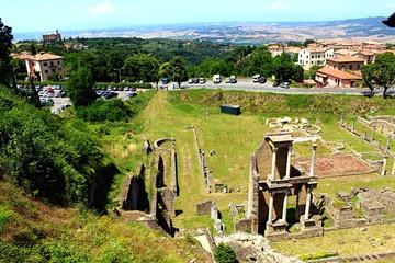 Fototapeta High Angle View Of Old Ruins Against Sky obraz