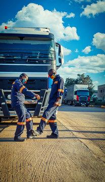 African  truck driver