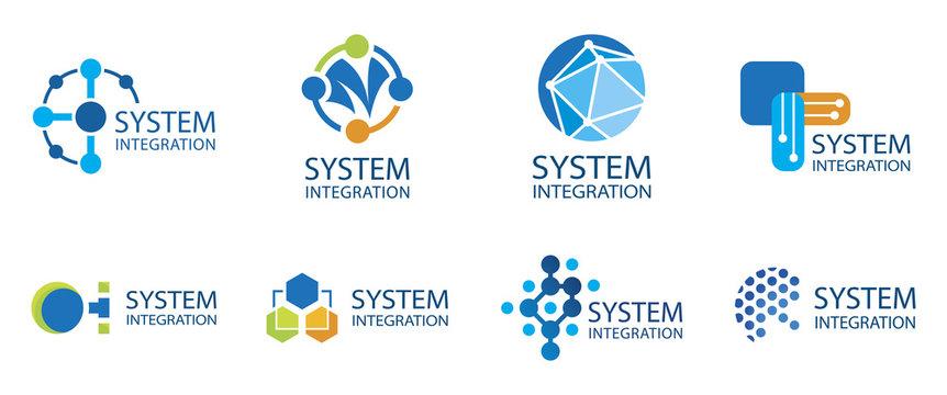 Vector logo of a system integration company