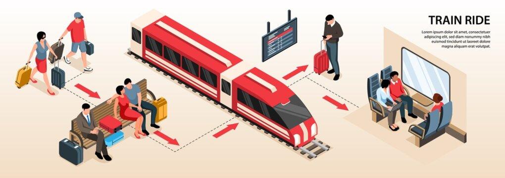 Isometric Railway Infographics