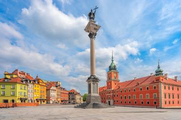 Obraz Warszawa, Plac Zamkowy, Stare Miasto, Polska, Europa - fototapety do salonu