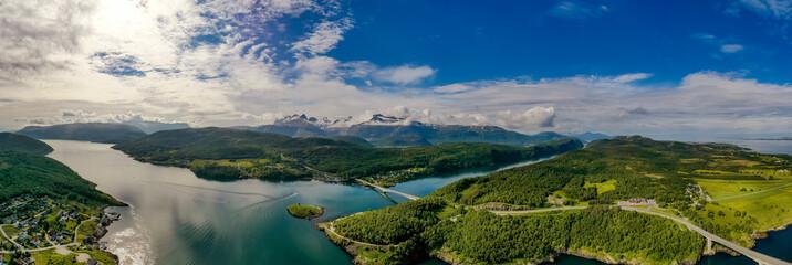 Fototapeta Panorama Beautiful Nature Norway.