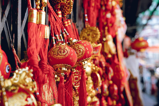 Chinese sphere and ball for decoration in market for celebration