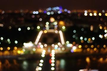 Defocused Image Of Illuminated City - fototapety na wymiar