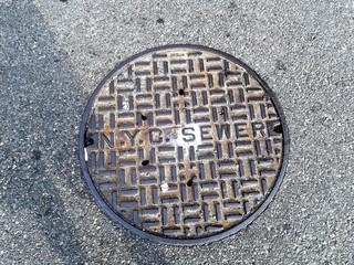 Fotomurales - Circle Manhole