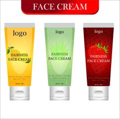 Wall Mural - face cream label design. Packaging design. Advertising of face cream. vector Illustration