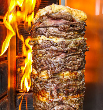 meat on the grill, Shawarma