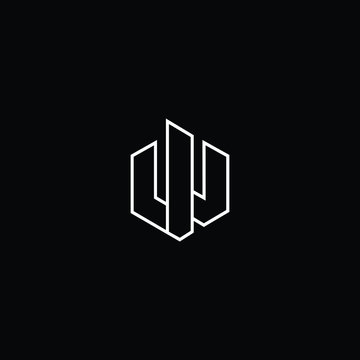 Professional Innovative Initial W logo. Letter WU UW Minimal elegant Monogram. Premium Business Artistic Alphabet symbol and sign