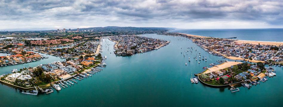 Newport beach Bay Southern California