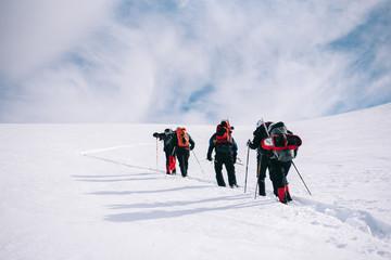 group of mountain climbers