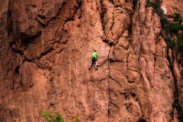 Rock Climber in Colorado