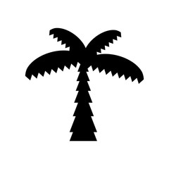 Wall Mural - tree palm line style icon