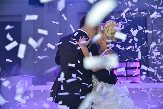Wedding dance confetti