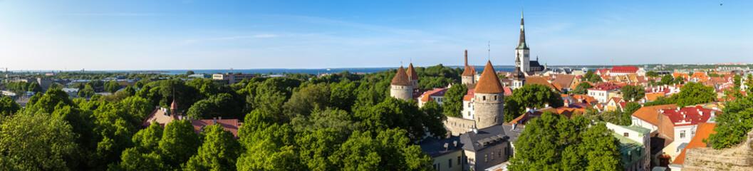 Aerial View of Tallinn Fotomurales