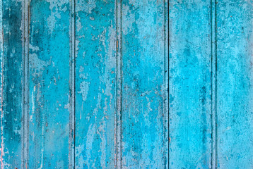 Photo sur Toile Les Textures Old distressed blue wooden wall or floor background.