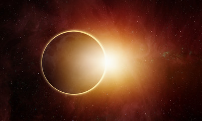 Fotomurales - Ringed solar eclipse