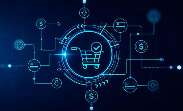 Immersive online shopping HUD interface