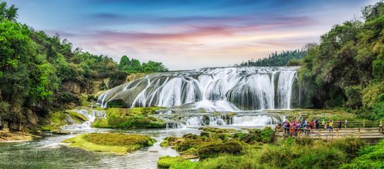 Huangguoshu waterfall group, Guizhou, China..