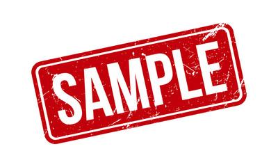 Sample Rubber Grunge Stamp Seal Vector Illustration
