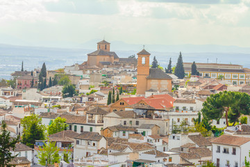 View of historical city of Granada, Spain