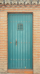 blue front door in Portugal