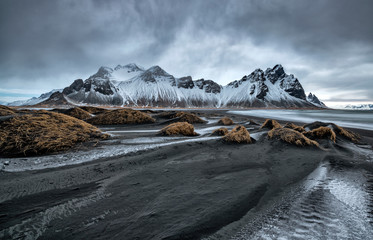 Photo sur Toile Pays d Asie Famous Stokksness beach on Iceland